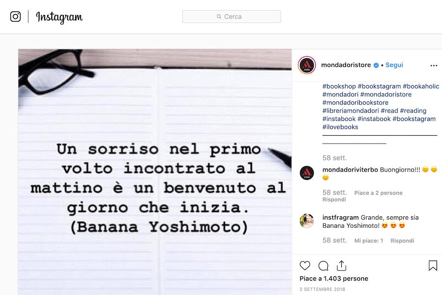 Posta delle citazioni per instagram