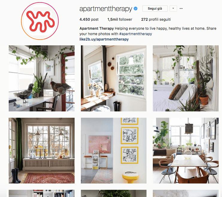 Account da seguire su Instagram: Apartment therapy