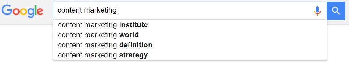 Google autosuggest feature