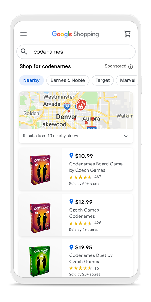 Google Shopping Local Stores