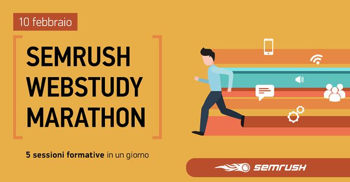 Iscriviti subito al SEMrush WebStudy Marathon