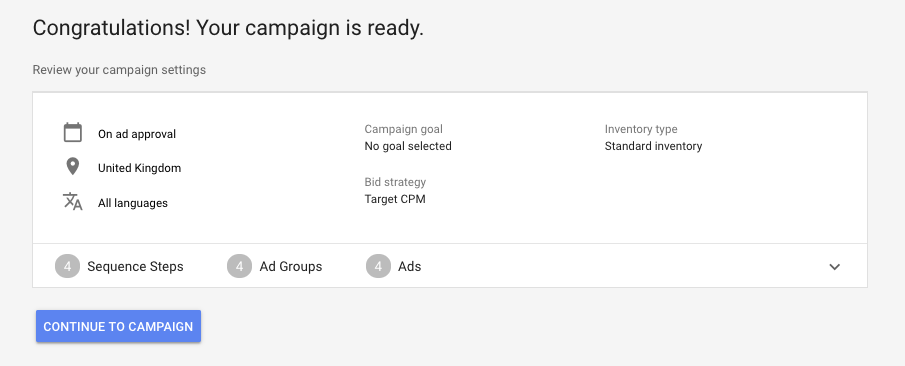 YouTube Video Ad Sequencing Campaign