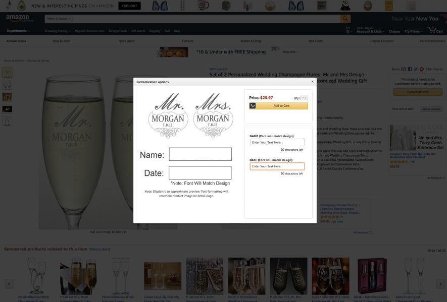 Amazon personalizzazione