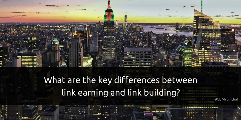 Differences between link earning and link building