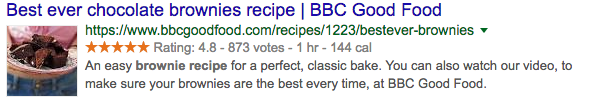 Example: Recipe rich snippet