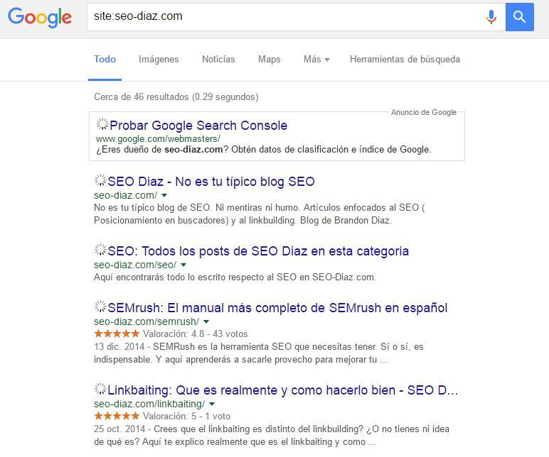 Segunda búsqueda site seo-diaz.com