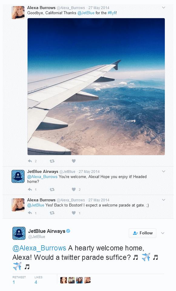 Come Jetblue gestisce il servizio di customer care su Twitter