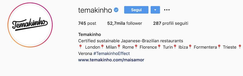 come scrivere la bio di un ristorante su instagram