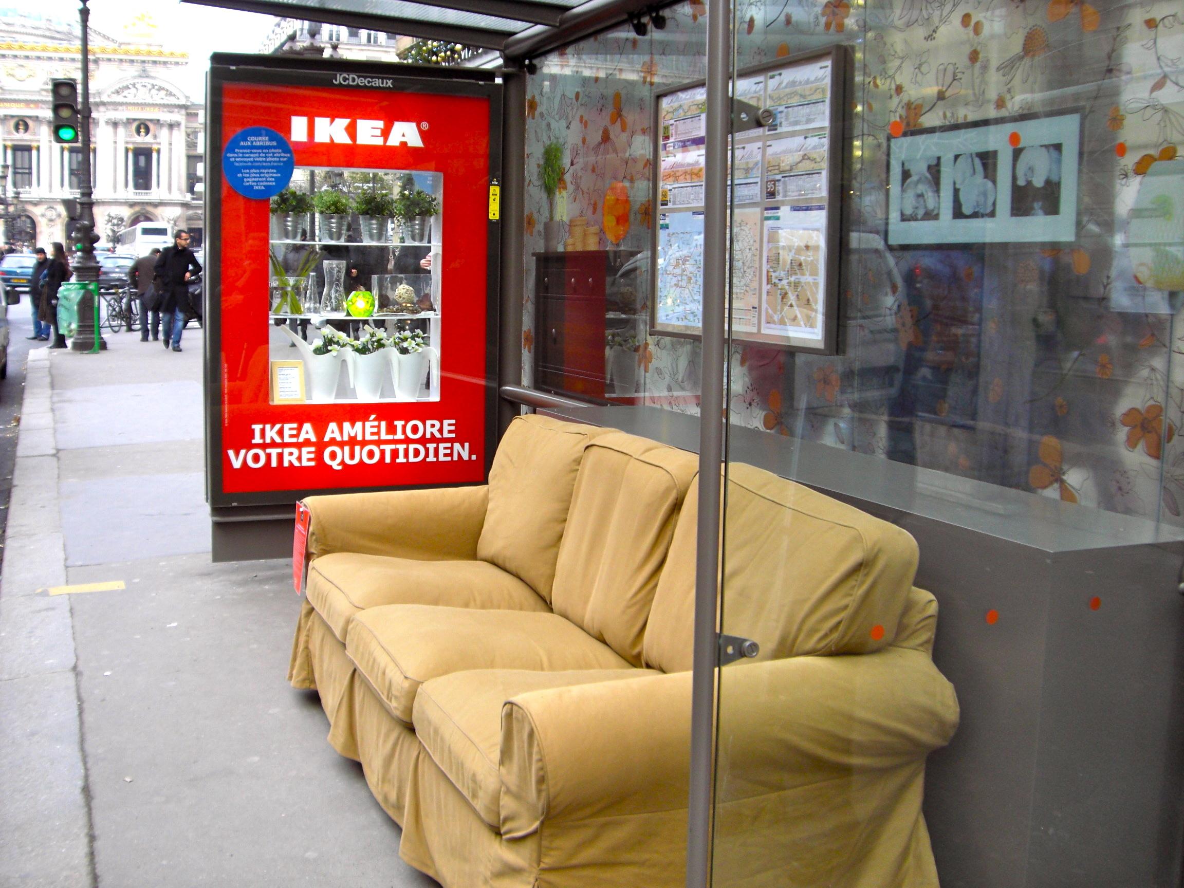 Street marketing - Ejemplo Ikea Francia