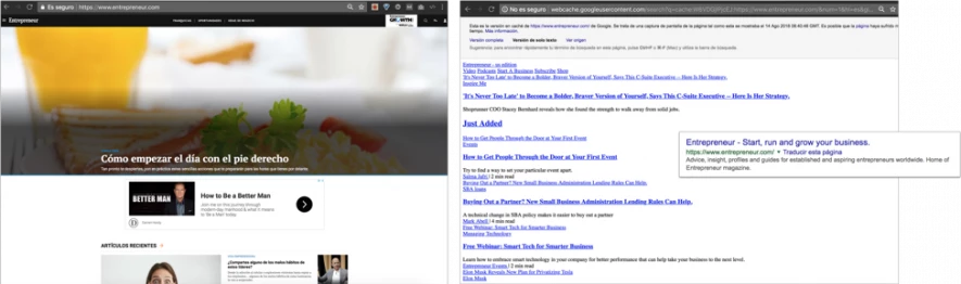 agli utenti di ogni Paese deve essere mostrata la url reale della versione del sito locale
