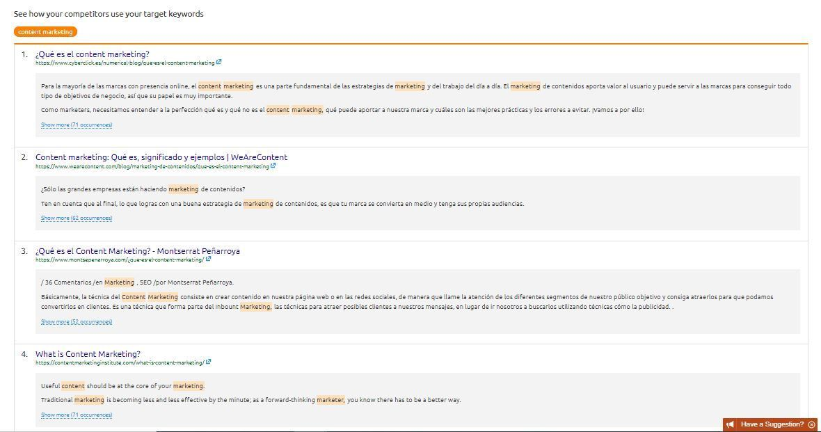 Extensión de contenidos - Recomendaciones clave