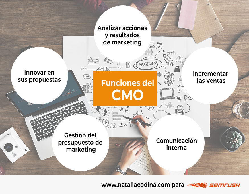 Funciones del CMO o director de marketing