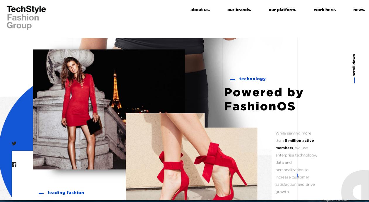 Esempio web design asimmetrico per il 2019