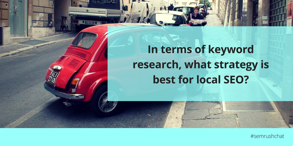 Best strategy for local SEO