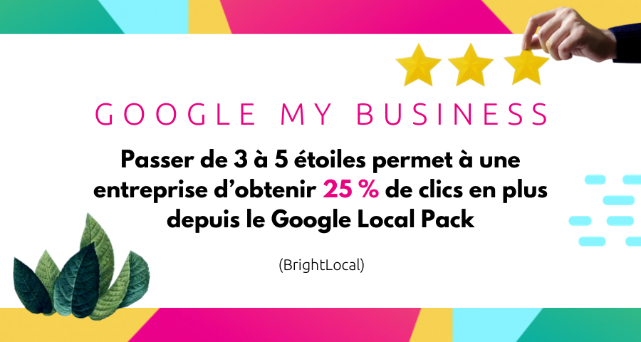 Google Local Pack SEO etoiles