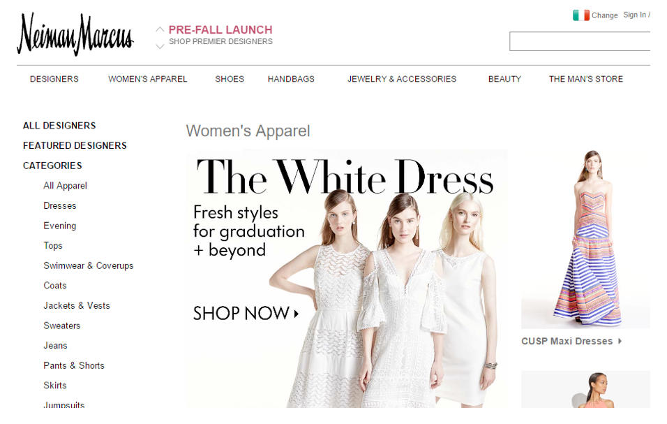Neiman Marcus White Dress Campaign