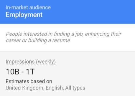 employment in market audience