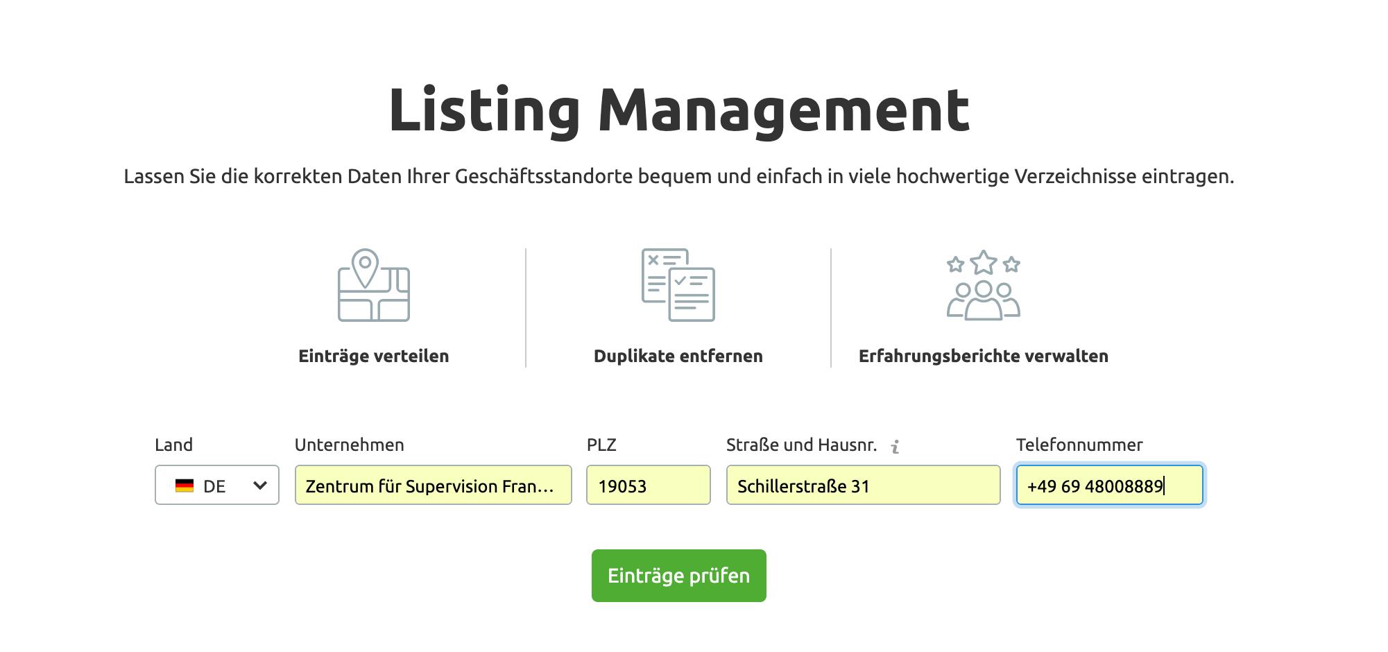Listing Management Tool