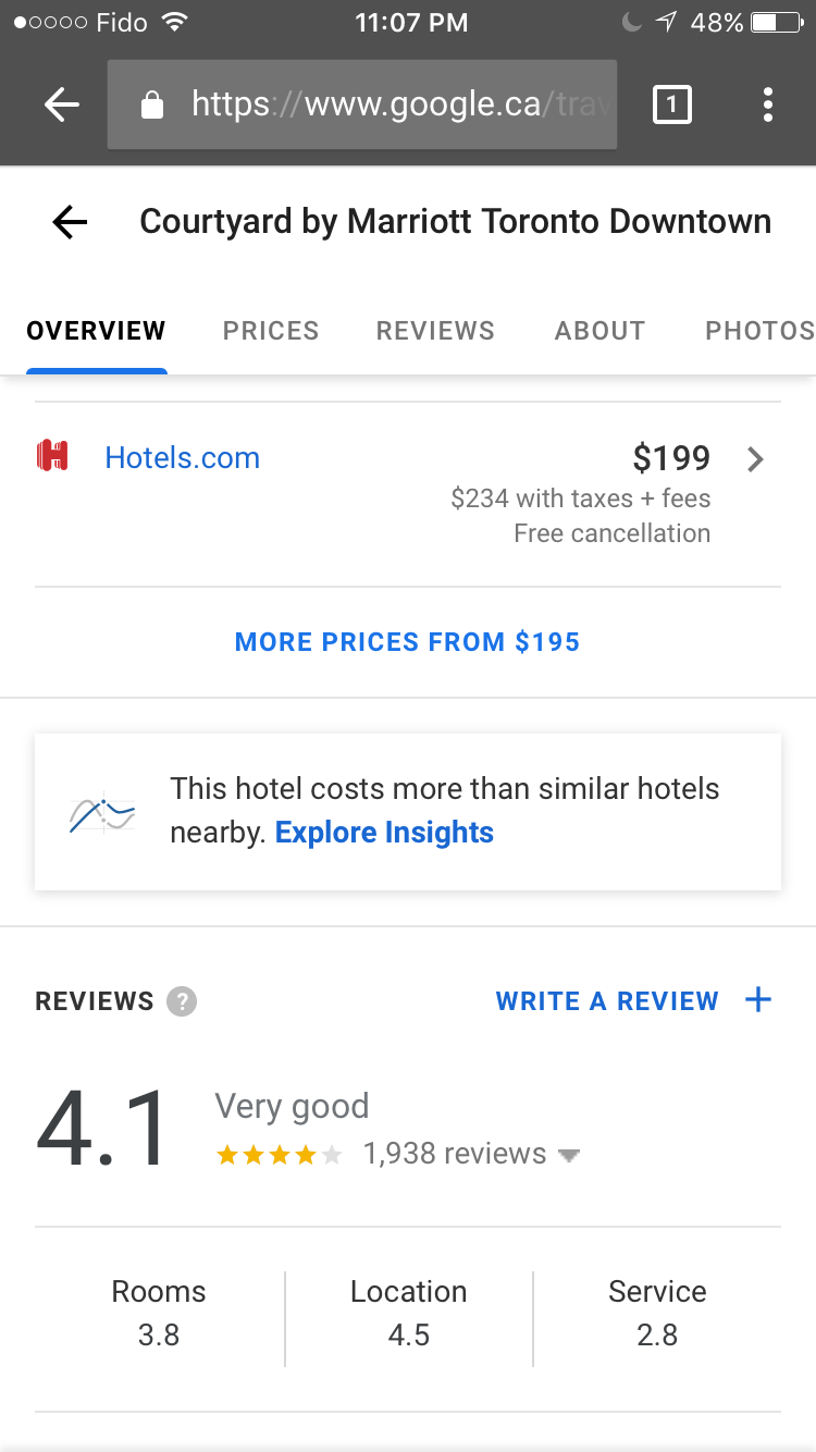 price-insights-button-google-test
