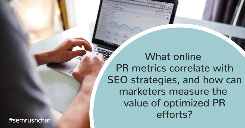 Online PR metrics that correlate with SEO strategies