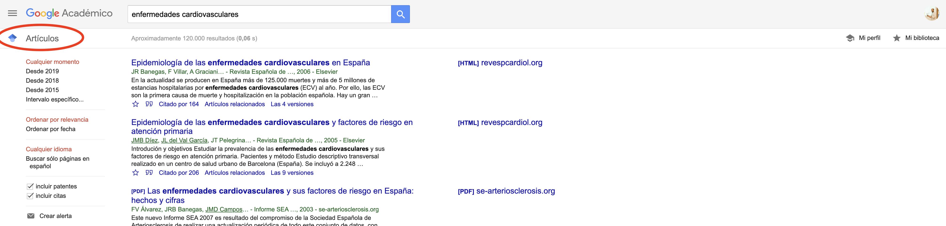 Búsqueda avanzada en Google - Google Académico
