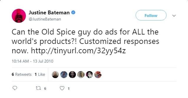 Justine Bateman's tweet