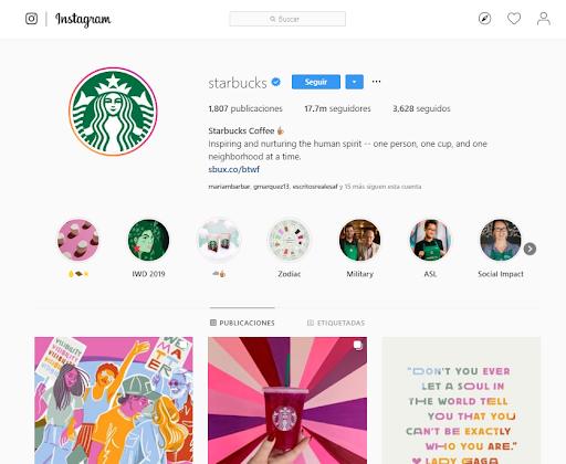 Likes en Instagram - Starbucks
