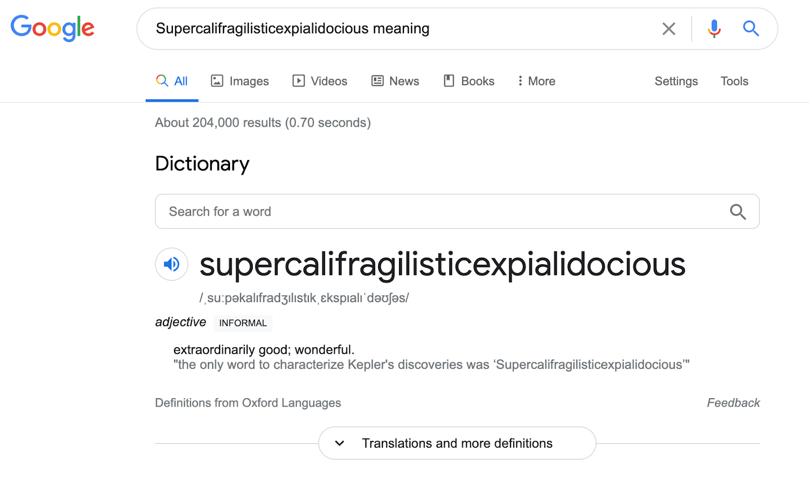featured snippet definition