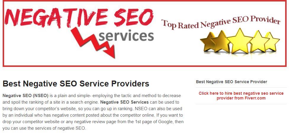 Negative SEO provider