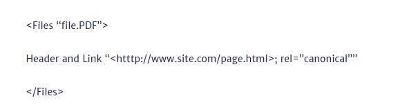 Come utilizzare il canonical nelle intestazioni HTTP della pagina