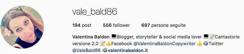 Due account Instagram da non perdere: consigli di Valentina Baldon