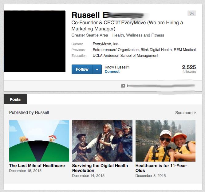 Russell on LinkedIn