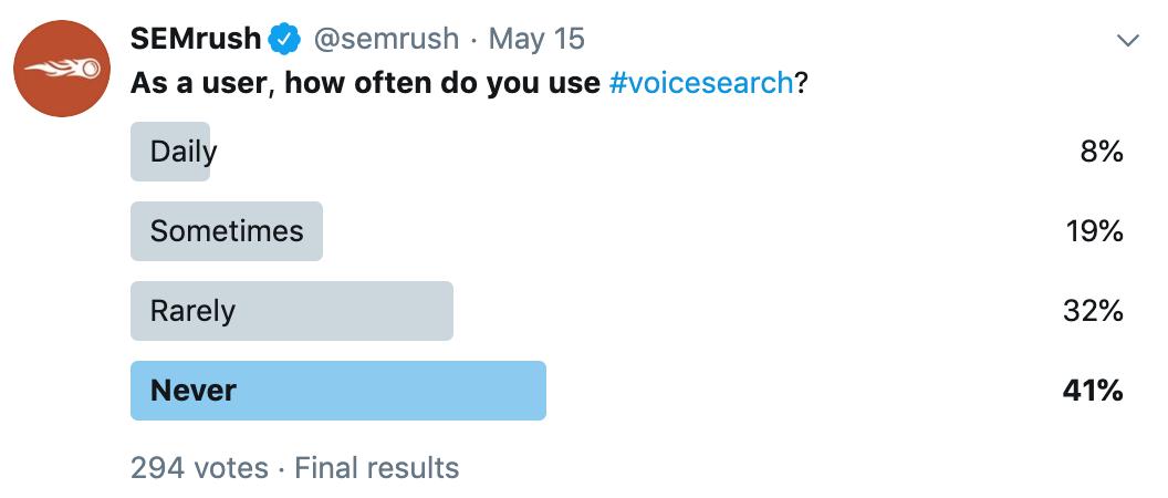 recherche vocale sondage