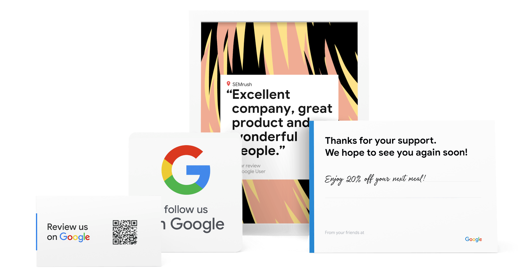 Example of free Google marketing materials