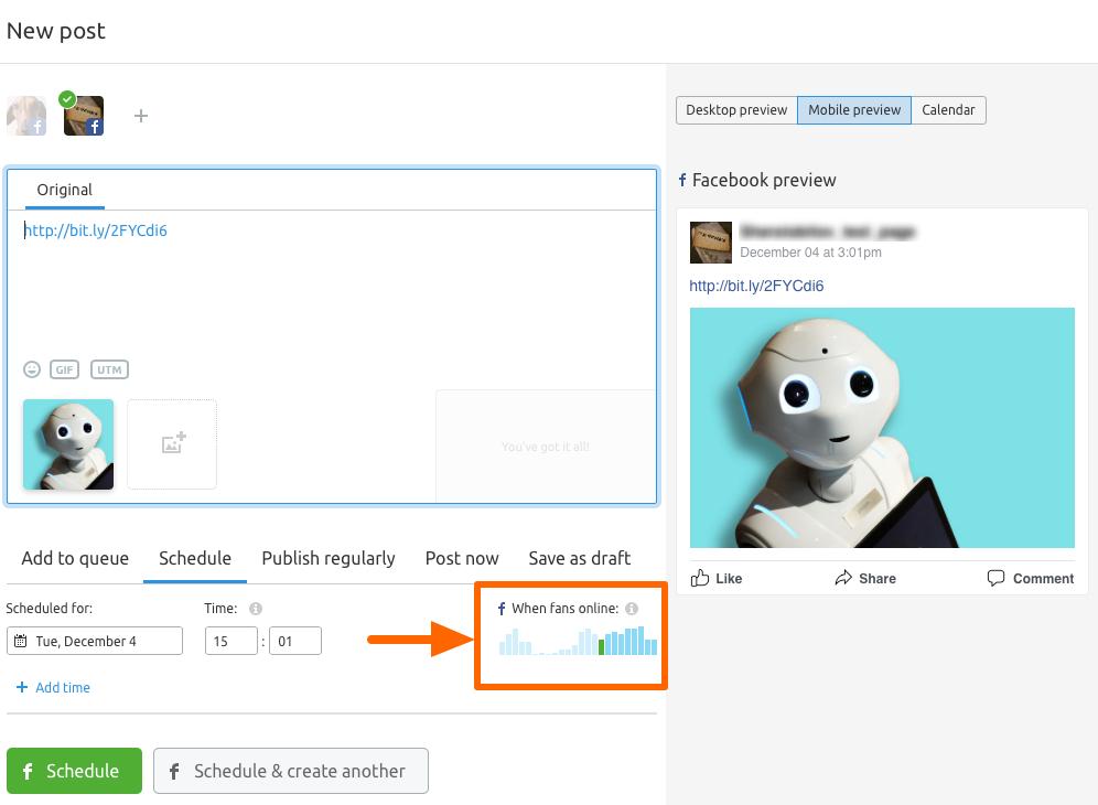 semrush social scheduling tool