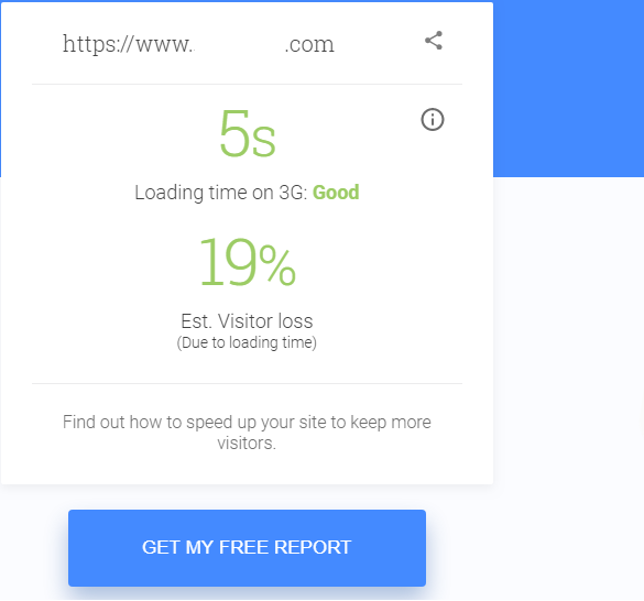 Google mobile speed free report