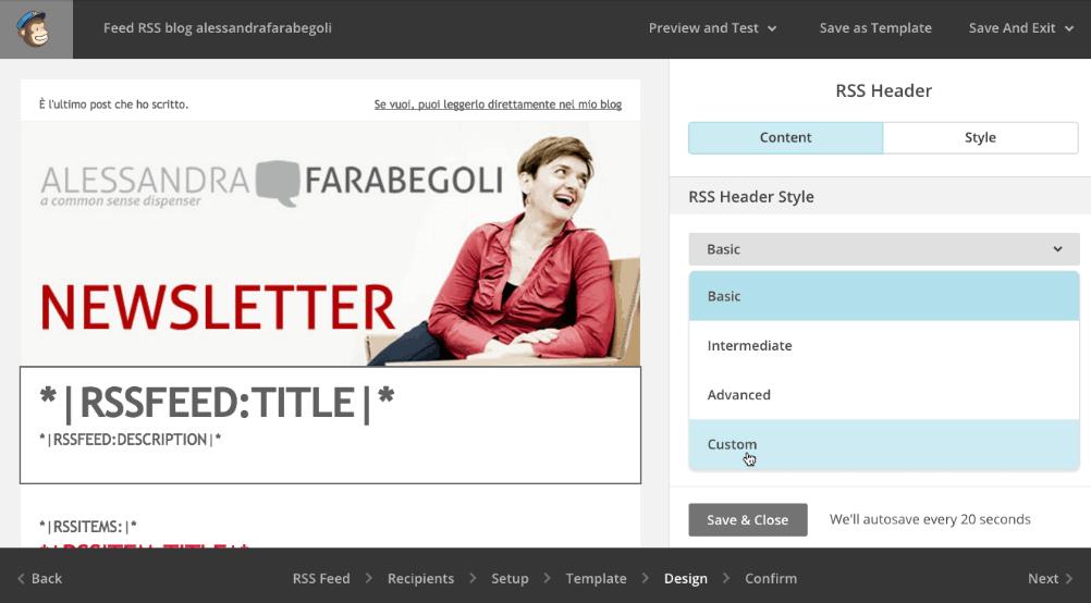 Creare una newsletter con MailChimp: personalizzare il codice