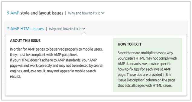 Campañas de PPC - Lista de errores AMP
