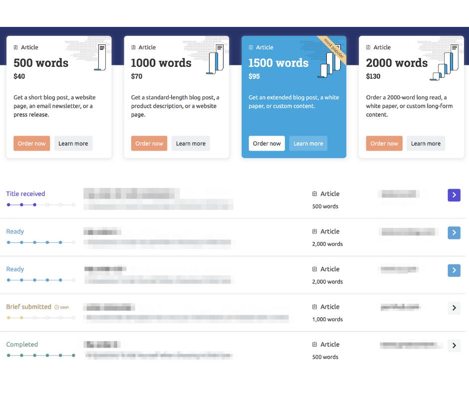SEMrush Content Marketplace — order content online easily