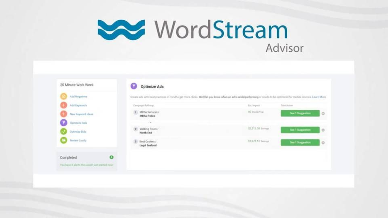 Wordstream Advisor - PPC tools
