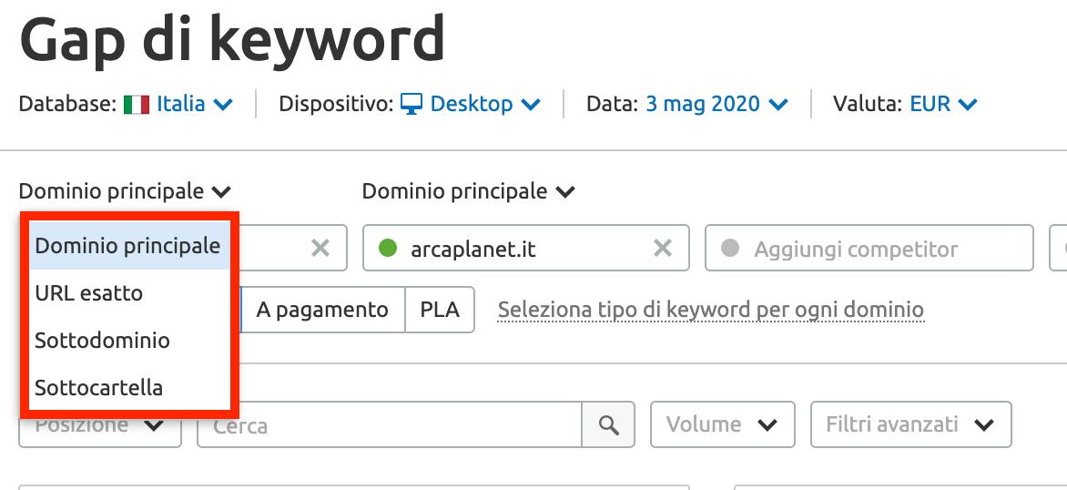 approfondisci la tua analisi keyword su più livelli
