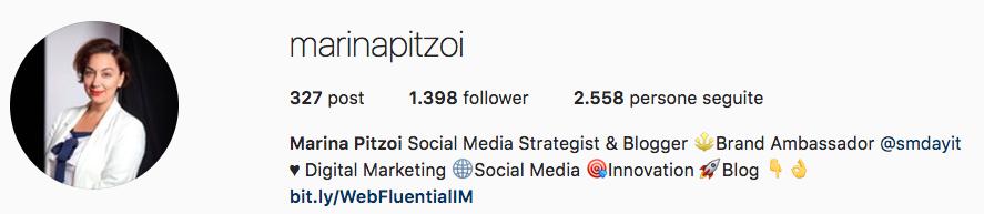 Esperti Instagram: gli account da seguire (Marina Pitzoi)