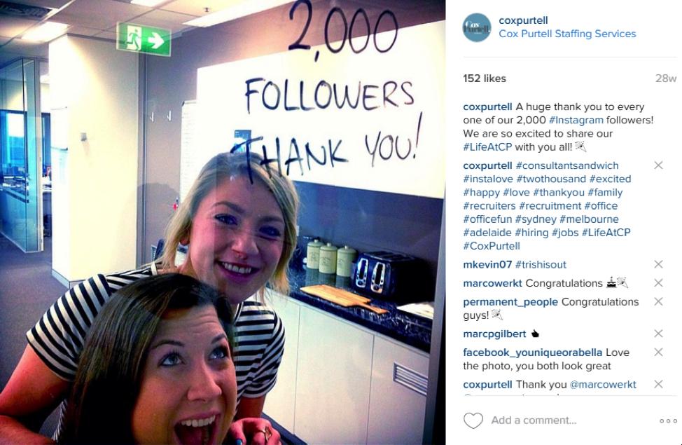 Thank Fans on Instagram