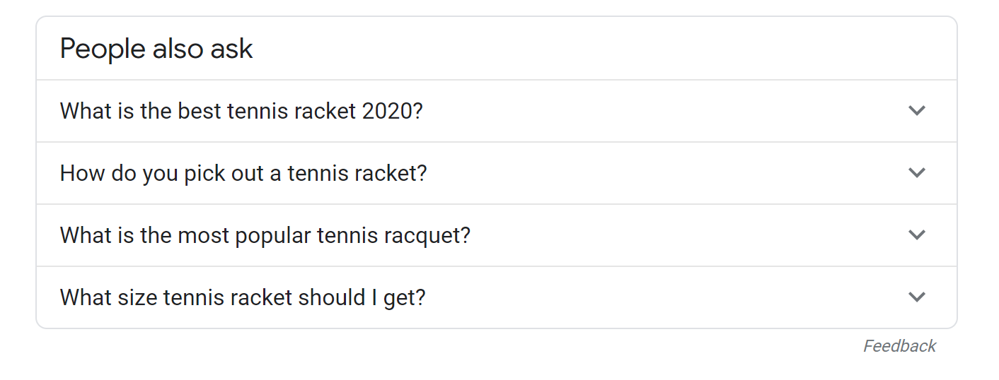 people also ask tennis racquets