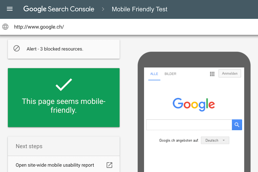 Verifica con l'audit se il tuo blog è mobile friendly