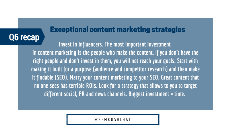 content marketing strategies to invested in
