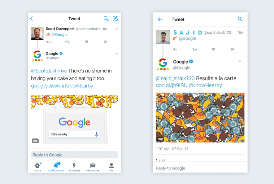 Google e gli emoji: risultati nelle vicinanze con #KnowNearby