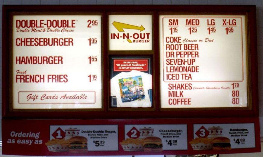 Página web - Oferta de comida rápida que se mejora