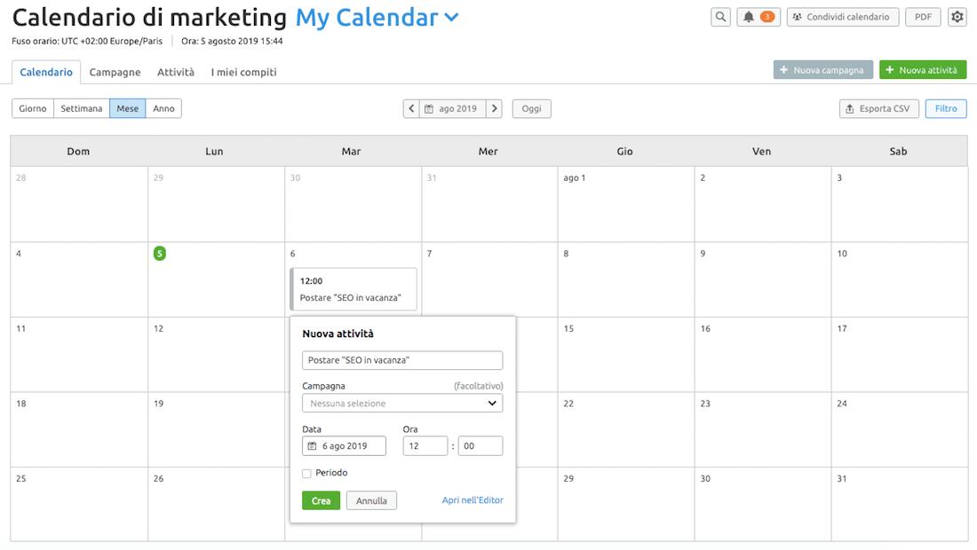 Uno strumento per pianificare il tuo calendario e sincronizzarti con il tuo team