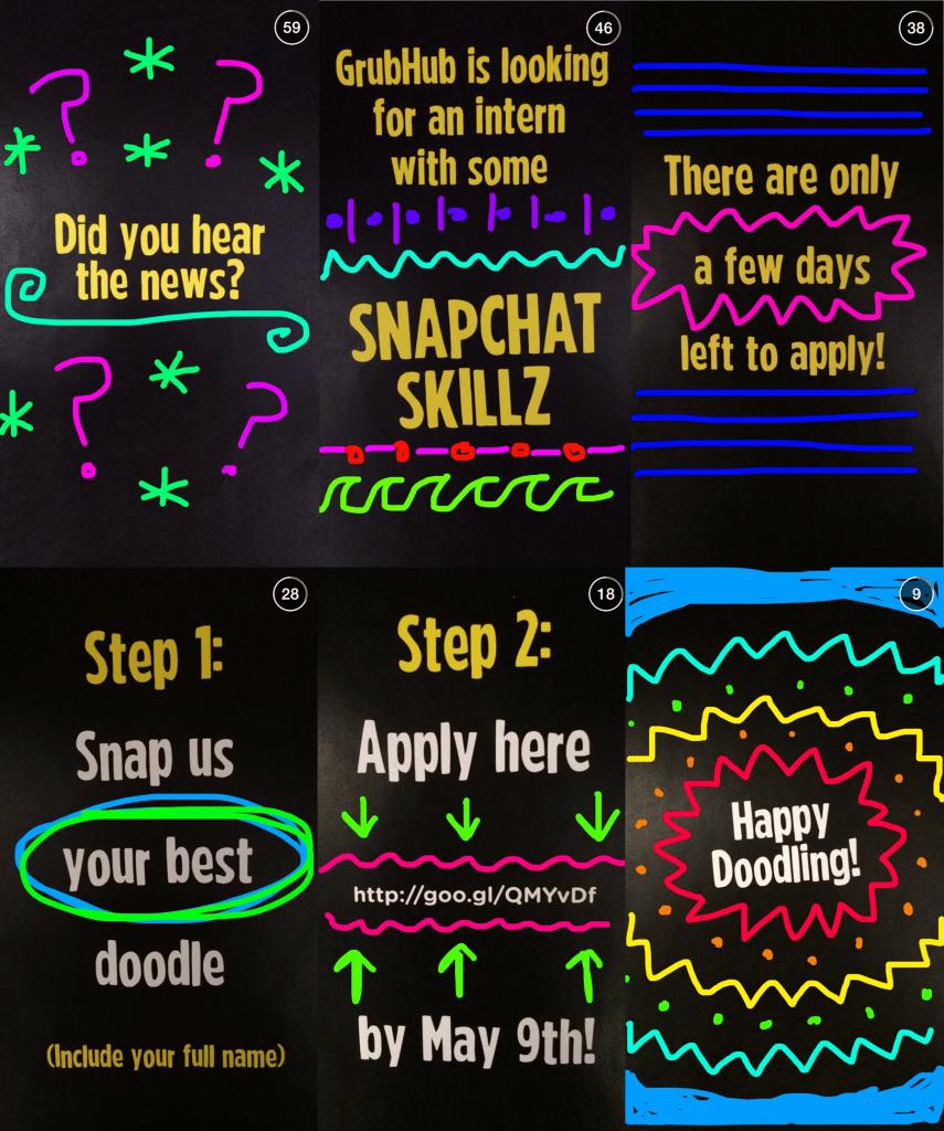 GrubHub on Snapchat